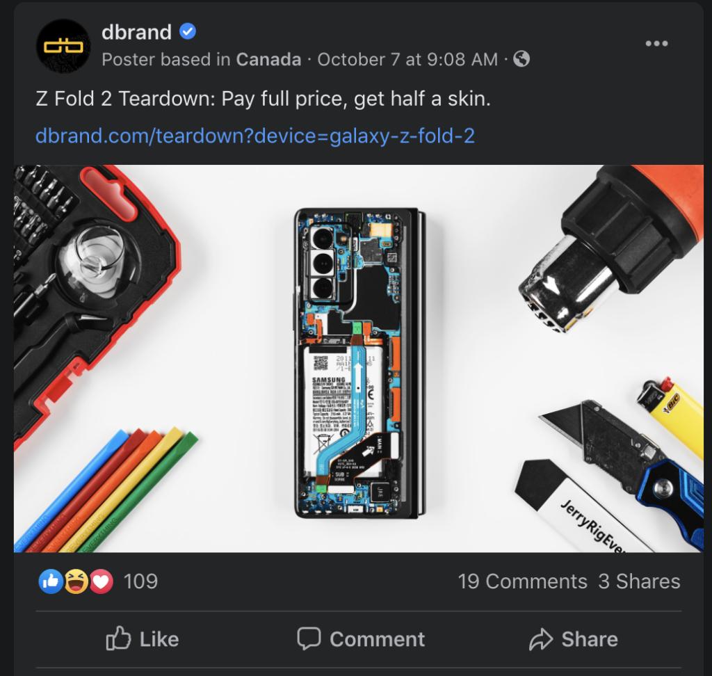 Dbrand Authentic Advertising